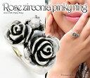 送料無料 薔薇 ダブル ローズ リアルな 薔薇 がキュート♪ ファランジリング ROSE デザ