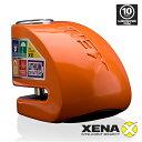 送料無料 XENA XX10-HD (ORANGE) アラーム ディスクロック 10mmピン ゼナ