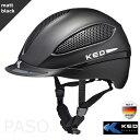 乗馬用ヘルメット KED PASO(黒 マットブラック) 乗馬ヘルメット 帽子 欧州安全基準認証 サイズ調整 インナー洗濯可 LED安全ライト 乗馬用品