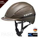 【送料無料】KED 乗馬用ヘルメット PASO(マット・ブ