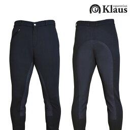 乗馬キュロットGN(紺ネイビー 尻革) Klaus 男女兼用 乗馬用キュロット ブリーチ ズボン パンツ フルシート メンズ&レディース 乗馬用品