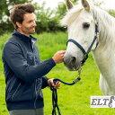 ELT ブルゾンジャケット メンズ 男性用 BMA1(ネイビー) 撥水 防風 乗馬ウェア アパレル 紺色 ジャンパー ジャンバー ウインドブレーカー 乗馬用品