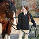 乗馬競技会用 Dublin ジュニア用 ショージャケット(黒ブラック) 子供用 キッズ じょうらん 競技用 乗馬用品