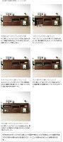 幅180cmウォールナット材ウォールナット無垢材TVキャビネットとマガジンラックと引き出しを組み合わせたユニット収納ボードサイドボードWONDER-SB180-E(※チェア別売)