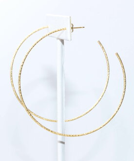 10% Off ☆ VERY 3・1 issue s ★ VERY 9・7-No. and Domani August issue on ★ JUICYROCK original ★ hoop earrings gold Sparkle Hoop (L)