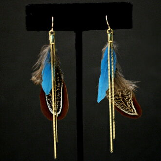 VERY and STORY posted on ★ JUICYROCK original ★ earrings gold Real Medium Feather with Snake Chain Hook