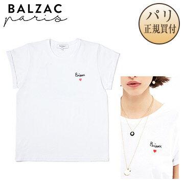 【パリ直輸入】BALZAC PARIS バルザック・パリTee shirt bisouTシャツ ホワイト ビズ [フランス・レディース・洋服・トップス]
