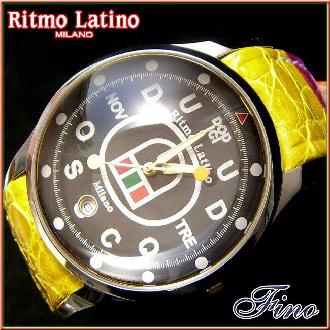 【Ritmo Latino腕時計フィーノ(ブラック/マルチカラーバンド)ラージサイズ】圧倒的な「存在感」・「楽しさ」「遊び心」・「情熱」を感じさせてくれます。【リトモラティーノ】 【送料無料】リトモラティーノ腕時計(メンズ)