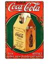 ショッピングボトル 【クリックポスト全国送料無料】コカコーラ COCA COLA コーラ 広告 ブリキ看板 店舗用 NEON SIGN アメリカン雑貨 看板