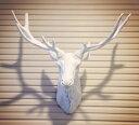 白 壁掛け 鹿 オブジェ 剥製 インテリア アニマル ANIMAL HEAD 北欧 モダン 動物 顔 高級 モダン おしゃれ トナカイ ユニーク デザイン