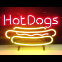 【海外直輸入商品・納期1週間〜3週間程度】【全国送料580円・2万以上送料無料】F3 Hot Dogs ホットドック 広告 店舗用 NEON SIGN アメリカン雑貨 看板 ネオン管