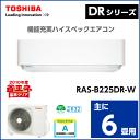 ☆東芝 ルームエアコン【主に6畳用】DRシリーズRAS-B225DR 単相100V 2016年モデル RASB225DRW
