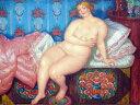 油絵 ボリス・クストーディエフ 美 P12サイズ P12号 606x455mm 油彩画 絵画 複製画 選べる額縁 選べるサイズ
