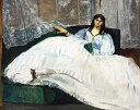 油絵 エドゥアール・マネ 扇子を持った女性 F12サイズ F12号 606x500mm 油彩画 絵画 複製画 選べる額縁 選べるサイズ