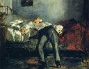 油絵 エドゥアール・マネ 自殺 F12サイズ F12号 606x500mm 油彩画 絵画 複製画 選べる額縁 選べるサイズ