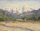 油絵 油彩画 絵画 複製画 クロード・モネ ネルビの渓谷 F10サイズ F10号 530x455mm すぐに飾れる豪華額縁付きキャンバス