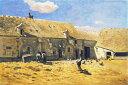 油絵 油彩画 絵画 複製画 クロード・モネ シャイイの農家の庭 M10サイズ M10号 530x333mm すぐに飾れる豪華額縁付きキャンバス