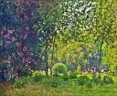 【送料無料】絵画 油彩画 油絵 複製画/クロード・モネ モンソー公園 F12サイズ 762x656mm 【すぐに飾れる豪華額縁付 キャンバス】