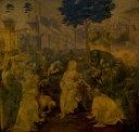 【送料無料】絵画 油彩画 油絵 複製画/ レオナルド・ダ・ヴィンチ 東方三博士の礼拝 F10サイズ 686x611mm 【すぐに飾れる豪華額縁付 キャンバス】