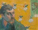 絵画 インテリア 額入り 壁掛け複製油絵 ポール・ゴーギャン 自画像(レ・ミゼラブル) F20サイズ F20号 727x606mm 絵画 インテリア 額入り 壁掛け 油絵