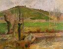 油絵 油彩画 絵画 複製画 ポール・ゴーギャン ポン=タヴェン付近の風景 F10サイズ F10号 53