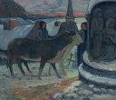油絵 ポール・ゴーギャン クリスマスの夜 F12サイズ F12号 606x500mm 油彩画 絵画 複製画