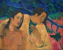 油絵 ポール・ゴーギャン 逃避 F12サイズ F12号 606x500mm 油彩画 絵画 複製画 選べる額縁 選べるサイズ