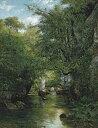 油絵 ギュスターヴ・クールベ 小川 F12サイズ F12号 606x500mm 油彩画 絵画 複製画 選べる額縁 選べるサイズ