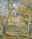油絵 カミーユ・ピサロ 菜園 F12サイズ F12号 606x500mm 油彩画 絵画 複製画 選べる額縁 選べるサイズ