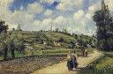 絵画 インテリア 額入り 壁掛け 油絵 カミーユ・ピサロ ポントワーズ近郊の風景、オーヴェルの道 M15サイズ M15号 652x455mm...