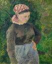 油絵 油彩画 絵画 複製画 カミーユ・ピサロ 農婦 F10サイズ F10号 530x455mm すぐに飾れる豪華額縁付きキャンバス