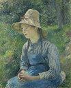 絵画 インテリア 額入り 壁掛け 油絵 カミーユ・ピサロ 麦藁帽子をかぶった農婦 F20サイズ F20号 727x606mm 絵画 インテリア 額入り 壁掛け 油絵
