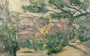 絵画 インテリア 額入り 壁掛け 油絵 ポール・セザンヌ エスタックの朝の風景 M15サイズ M15