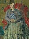 絵画 インテリア 額入り 壁掛け 油絵 ポール・セザンヌ 赤いひじ掛け椅子のセザンヌ夫人 F20サイズ F20号 727x606mm 絵画 インテリア 額入り 壁掛け 油絵