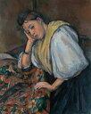 ポール・セザンヌ テーブルにいる若いイタリア女性 F30サイズ F30号 910x727mm 条件付き送料無料  額縁付絵画 インテリア 額入り 壁掛け 油絵 ポール・セザンヌ