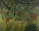 【送料無料】絵画 油彩画複製油絵複製画/アンリ・ルソー 驚き F30サイズ 910x727mm 【送料無料  額縁付 キャンバス】