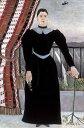 油絵 油彩画 絵画 複製画 アンリ・ルソー 女性の肖像 M10サイズ M10号 530x333mm すぐに飾れる豪華額縁付きキャンバス