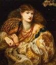 油絵 油彩画 絵画 複製画 ダンテ・ゲイブリエル・ロセッティ モンナ・ヴァンナ F10サイズ F10号 530x455mm すぐに飾れる豪華額縁付きキャンバス
