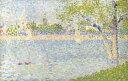 【送料無料】絵画 油彩画 油絵 複製画/ジョルジュ・スーラ グランド・ジャット島からのセー