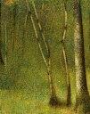 【送料無料】絵画 油彩画 油絵 複製画/ジョルジュ・スーラ ブルゴーニュ地域圏の森林 F12サ