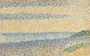 【送料無料】絵画 油彩画 油絵 複製画/ジョルジュ・スーラ 海の景色 F12サイズ 762x656mm 【すぐに飾れる豪華額縁付 キャンバス】