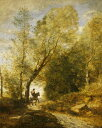 絵画 インテリア 額入り 壁掛け 油絵 ジャン=バティスト・カミーユ・コロー クブロンの森