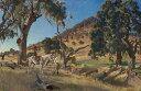 【送料無料】絵画 油彩画複製油絵複製画/ジョージ・ワシントン・ランバート 開拓者の娘 M8サイズ M8号 455x273mm すぐに飾れる豪華額縁付きキャンバス