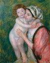 油絵 油彩画 絵画 複製画 メアリー・カサット 母と子 F10サイズ F10号 530x455mm すぐに飾れる豪華額縁付きキャンバス