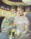 油絵 メアリー・カサット 劇場の特別席 F12サイズ F12号 606x500mm 油彩画 絵画 複製画 選べる額縁 選べるサイズ