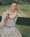 絵画 インテリア 額入り 壁掛け複製油絵 メアリー・カサット 赤いジニアと女性 F20サイズ F20号 727x606mm 絵画 インテリア 額入り 壁掛け 油絵