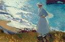 油絵 油彩画 絵画 複製画 ホアキン・ソローリャ ビアリッツの浜辺にいる画家の娘 M10サイズ M10号 530x333mm すぐに飾れる豪華額縁付きキャンバス