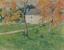 絵画 インテリア 額入り 壁掛け 油絵 エミール・ベルナール 木々の間の家 F15サイズ F15号