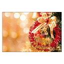 クリスマスカード サンタクロース サンタ 【DMC-066-L】100枚パック メッセージカード ハガキサイズ デザインメッセージカードにクリスマスカード登場!【クリスマスデザインの絵柄面はプリンタ出力には適しません】