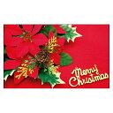 クリスマスカード サンタクロース サンタ 【DMM-152-L】100枚パック 気軽に使える名刺サイズのメッセージカード デザインメッセージカードミニ ミニメッセージカード【ネコポス対応商品】